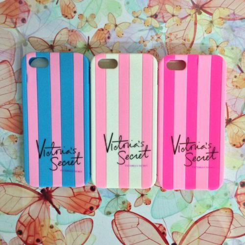Victoria/'s Secret PINK Luxe Soft Rubber Stripe Case Covers For iphone 4 4g 4s/5 5g 5s-in Phone Bags & Cases from Electronics on Aliexpress.com
