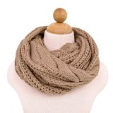 Amazon.com: Lightweight Winter Knit Warm Infinity Circle Scarf, Beige (13115): Clothing