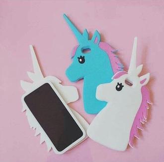 phone cover pastel blue kawaii kawaii accessory kawaii grunge unicorn pastel cute tumblr instagram pastel pink pink blue