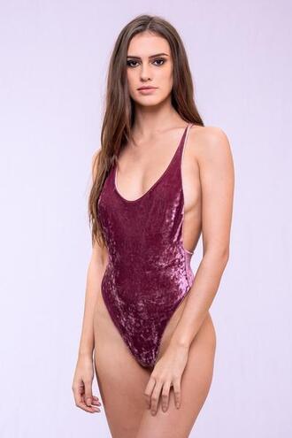 swimwear dbrie swim one piece pink velvet bikiniluxe