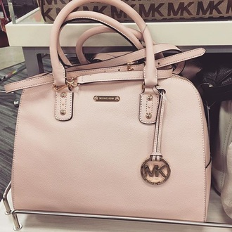 bag michael kors handbag pink baby pink purse
