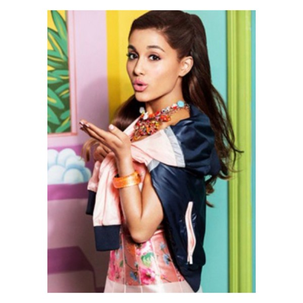 jacket ariana grande pink and navy pink adidas