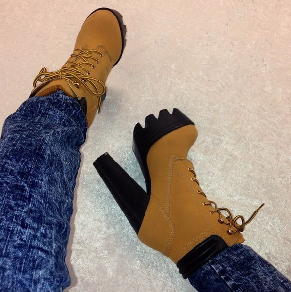 shoes chunky boots chunky heels boots booties shoes camel boots timberland style heels platform lace up boots boots timbs booties\ timberlands timberland thick sole