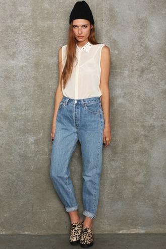 jeans denim levi's high waisted mom jeans vintage