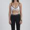 Nicce white band bralet