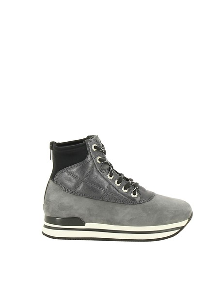 Hogan zip sneakers black grey shoes