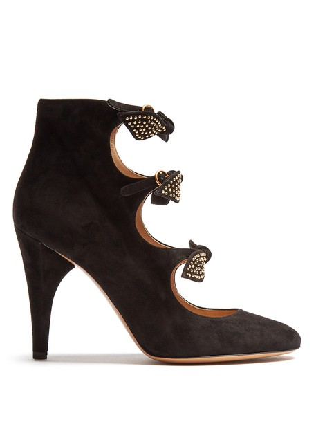 Chloe suede pumps pumps suede gold black shoes