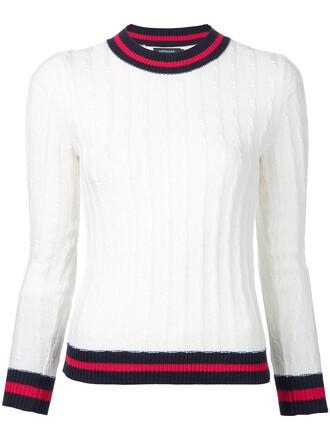 jumper women white cotton knit sweater