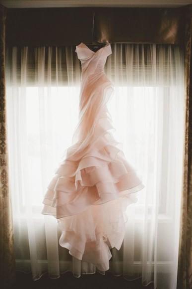 wedding clothes blush pink blush wedding dress beautiful ball gowns pink dress formal dress