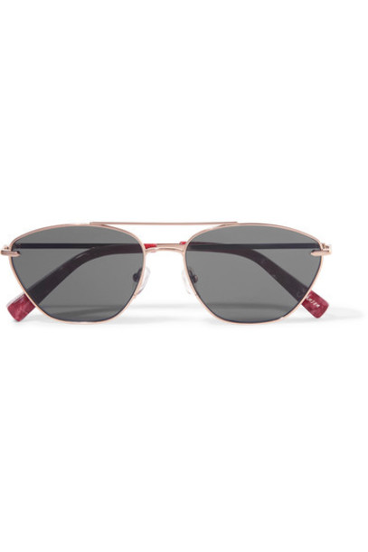 Elizabeth and James style rose gold rose sunglasses gold pink