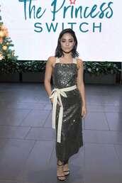 dress,gown,vanessa hudgens,elegant dress,celebrity style,sequins,sequin dress