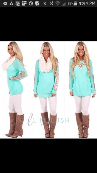 blouse sequin shirt embellished turqoise