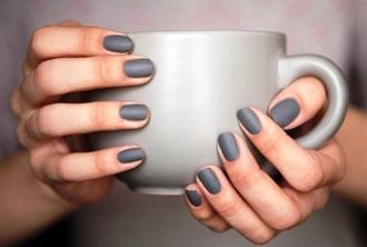 nail polish mug grey hipster