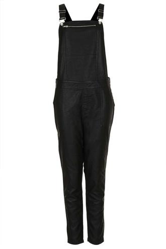 jumpsuit leather look