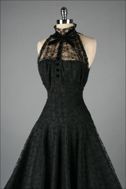 dress black vintage dress little black dress