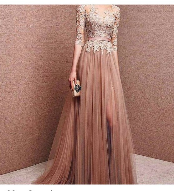 dress long dress elegant chic haute couture couture