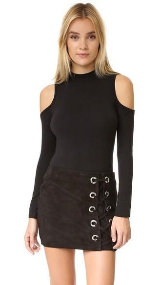 bodysuit cold black underwear