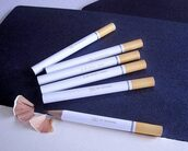 cigarette,hipster,office supplies,top,yellow,white,pencils,style,fashion,unisex,cool,jacket,home accessory,festival