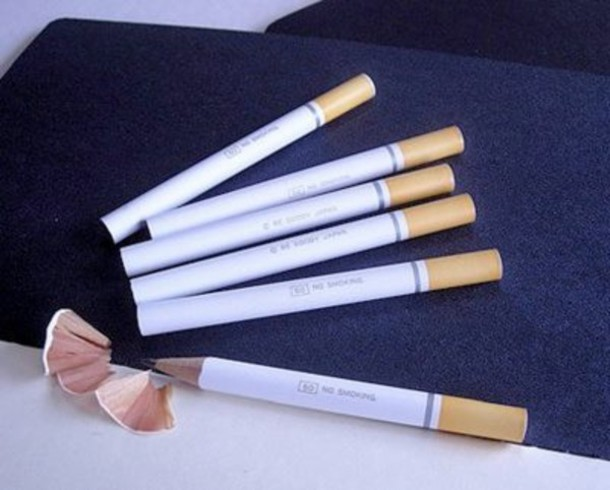Merveilleux Cigarette, Hipster, Office Supplies, Top, Yellow, White, Pencils, Style,  Fashion, Unisex, Cigarette, Cool, Jacket, Home Accessory, Festival    Wheretoget