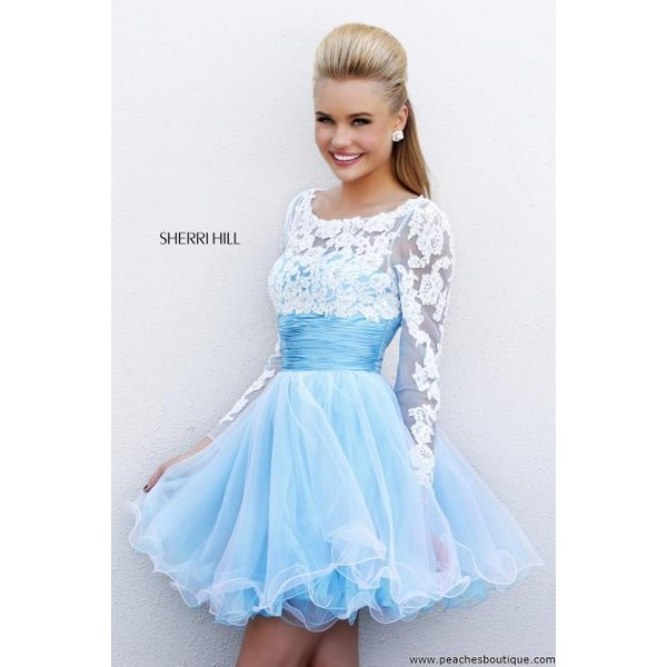 Sherri Hill Short Dress 21234 at Peaches Boutique - Polyvore