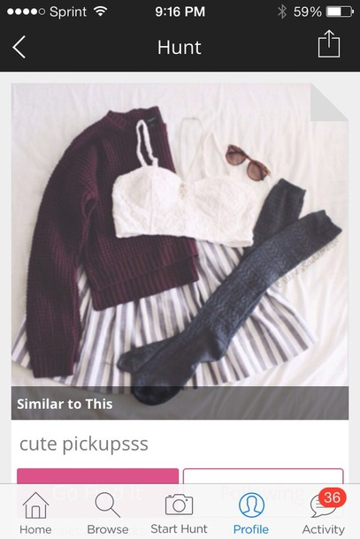 sweater burgundy