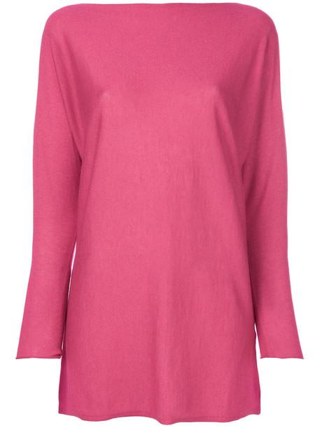 Snobby Sheep top women silk purple pink