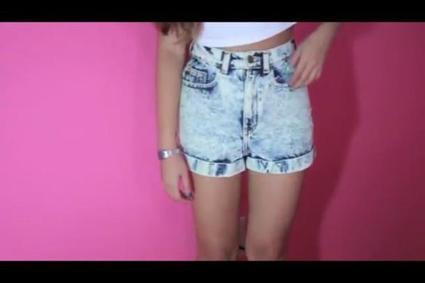 shorts jeans acid wash jeans blue tumblr