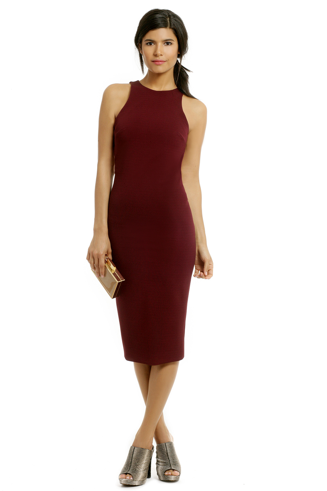 Cushnie Et Ochs Red Velvet Sheath