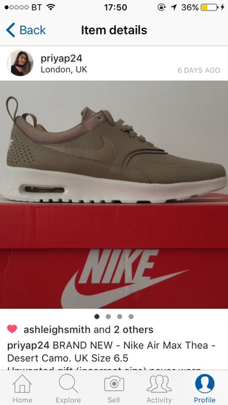 shoes camel nike beige trainers