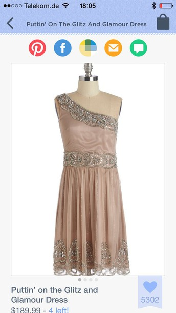dress blush party bejeweled