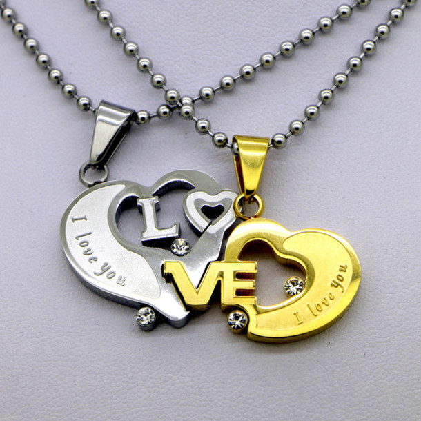 Jewels christmas jewelry couple couples jewelry lovers jewelry jewels christmas jewelry couple couples jewelry lovers jewelry matching jewelry interlocking connecting interlocking pendants girlfriend boyfriend aloadofball Image collections