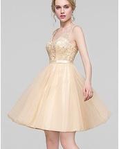 dress,champagne,belt,little dress,jjshouse dress,gold,bridemaid dress,cocktail dress,short dress,lace dress