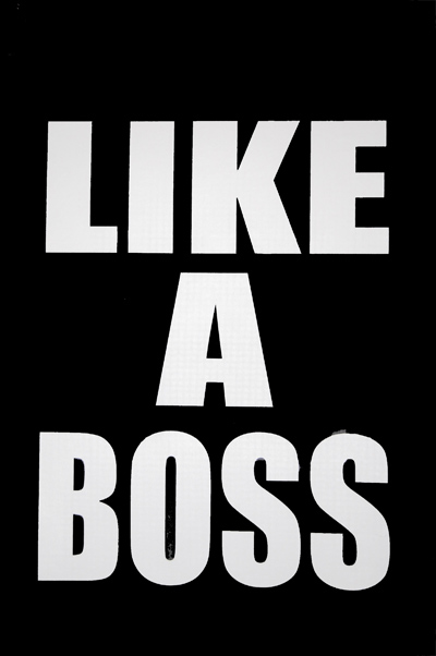 Like A Boss (white) Crew Neck T-shirt |