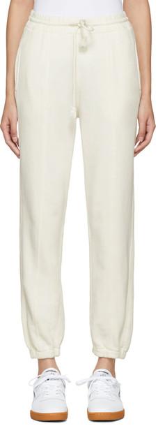 Helmut Lang pants white off-white