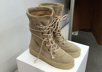 shoes yeezy beige boost tumblr fall outfits boots trainers