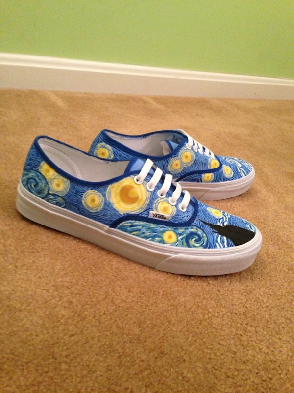 Vincent Van Gogh vans shoes Starry Night by ShoemycolorEtsyshop 05f00b95c