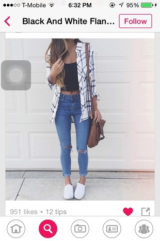 cardigan black white flannel shirt flannel cute summer outfits style
