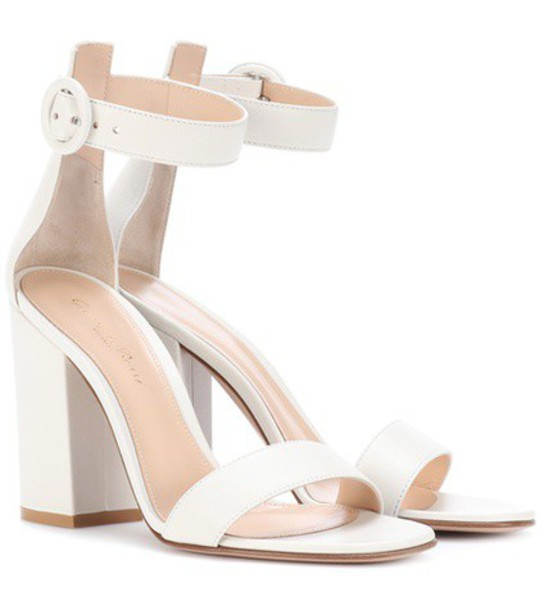 Gianvito Rossi sandals leather sandals leather white shoes