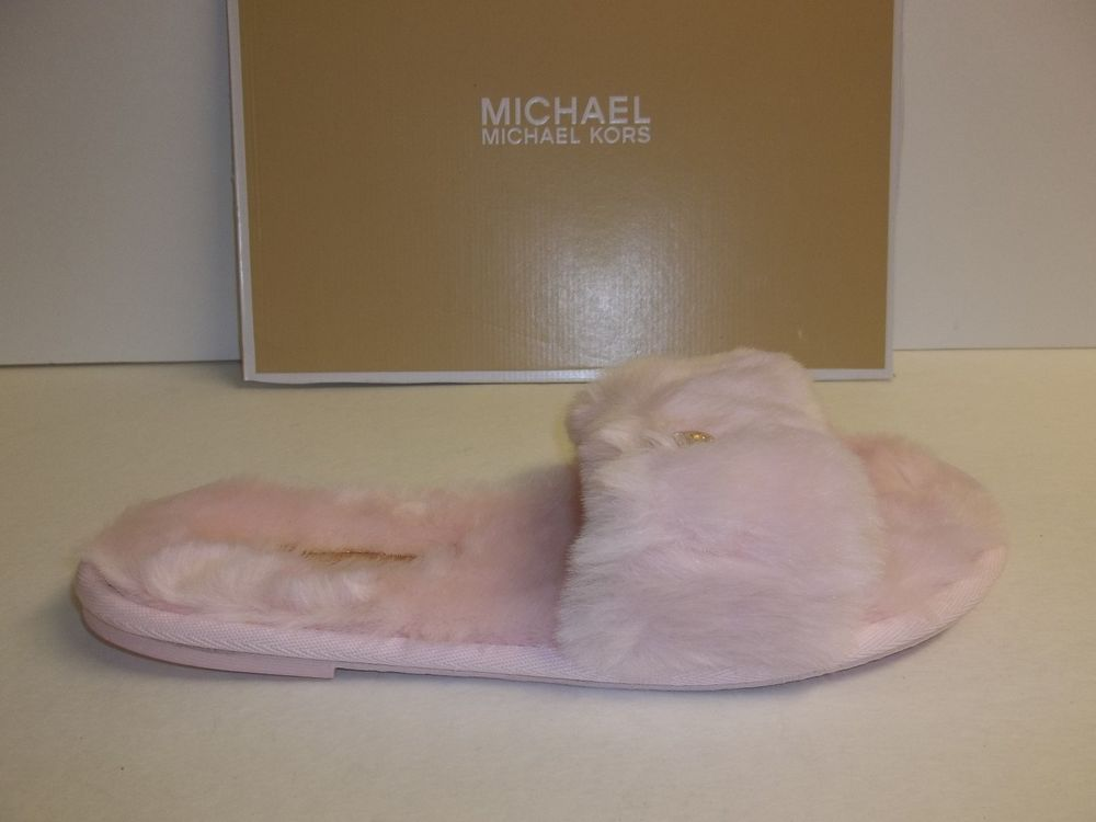 c0946d223cb3 ... Michael Kors Size 10 M Jet Set MK Slide Pink Slippers New Womens Shoes  . ...