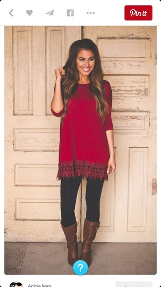 blouse tunic red
