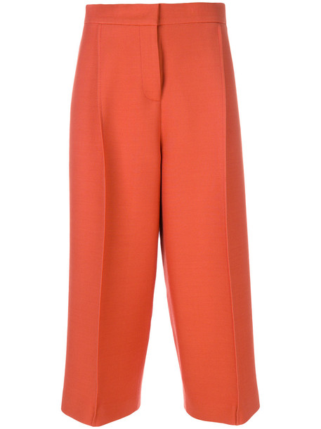 Fendi cropped tailored trousers - Yellow & Orange