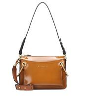 bag,shoulder bag,leather,brown