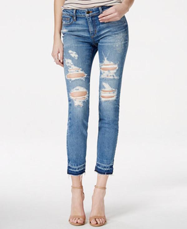 jeans denim distressed denim ripped jeans