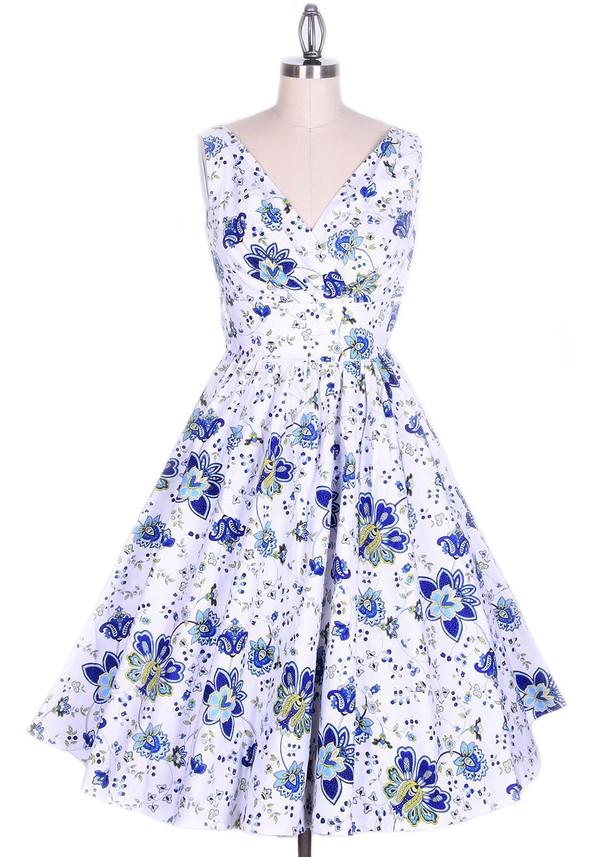 50s style long dress swing dress vintage dress Pin up retro dress classic classic dress 50s style 1950s dress floral dress dress rockabilly rockabilly dress rockabilly style