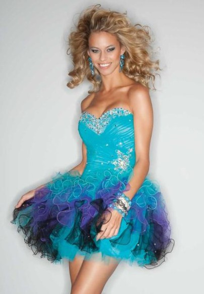 dress blue amazing cute mermaid fluff beautifu hot cute dress fantastic wow glamorous poofy dress fluffy dress, mermaid prom dresses sexy party dresses