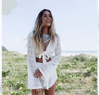 romper lace white cute girly girl girly wishlist two-piece set matching set white lace romper