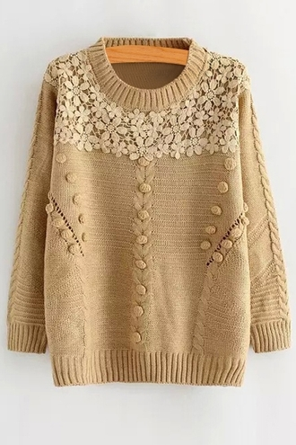 sweater floral crochet winter outfits fall outfits cute girly fashion style long sleeves knitwear