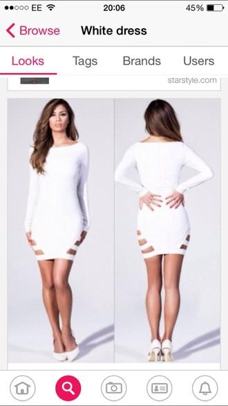 dress short sleeve white dress short dress long sleeve dress cutout pretty dress skirt