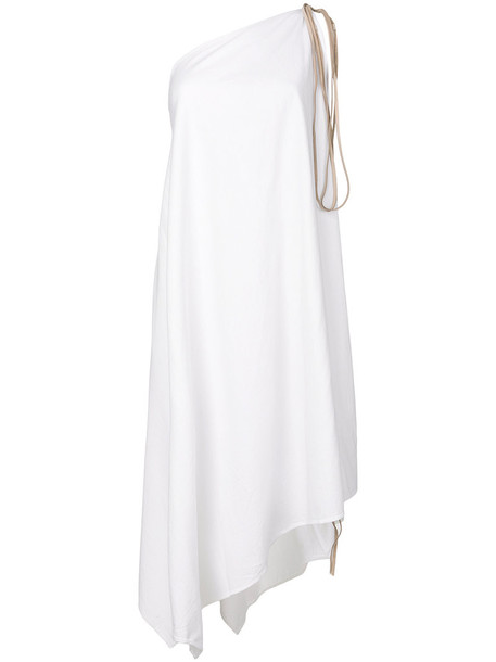 Caravana dress women leather white cotton