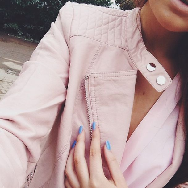 jacket pink jacket leather jacket faux leather tumblr jacket tumblr fashion blogger blogger blogger fashion high quality girl girly